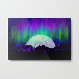 Under the Northern Lights Metal Print