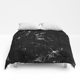 Black Marble #4 #decor #art #society6 Comforters