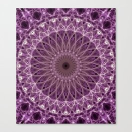Pink and lilac mandala Canvas Print