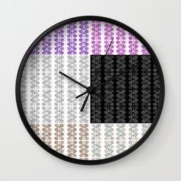 Wheels or Flowers? Wall Clock