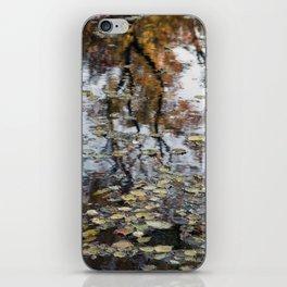 Floating Autumn leaves iPhone Skin