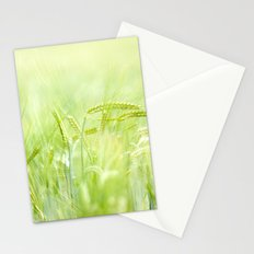 grainy green Stationery Cards
