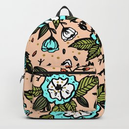 Botanical paint abstract Backpack
