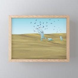 Polar bears steal the eggs Framed Mini Art Print