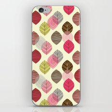 Linear leaves iPhone & iPod Skin