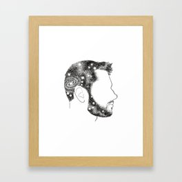 Head in Space Framed Art Print