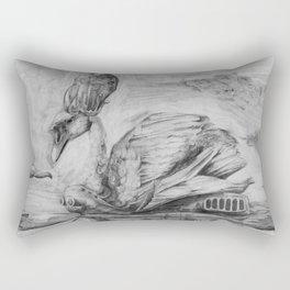 Queen swan laying an egg Rectangular Pillow