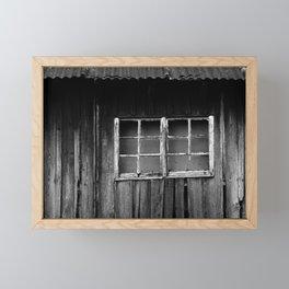 abandoned wooden building Framed Mini Art Print