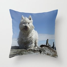 Carver by the sea Throw Pillow