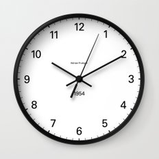 Type/Face 02 Wall Clock