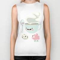 coffee Biker Tanks featuring Coffee! by Gina Mayes