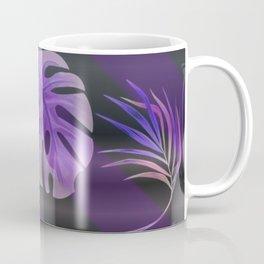 Purple palm leaves Coffee Mug