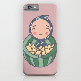 Carrying lemons iPhone Case