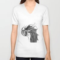 dragons V-neck T-shirts featuring Dragons by DragonsTime