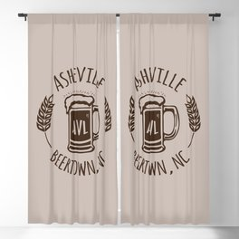 Asheville Beer T-Shirt - Brown Blackout Curtain