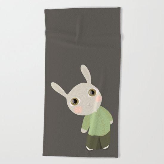Chinese Rabbit Beach Towel