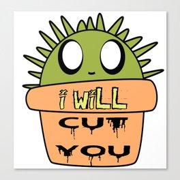 Spikey Pete the goru kawaii cactus Canvas Print