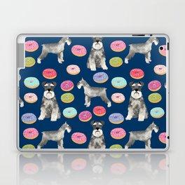 Schnauzer dog breed donuts doughnut pet art schnauzers pure breed gifts Laptop & iPad Skin