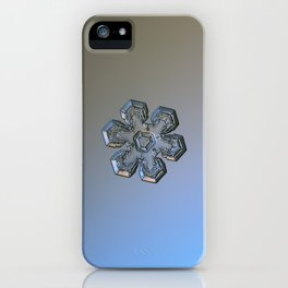 Real snowflake macro photo - Massive silver iPhone Case
