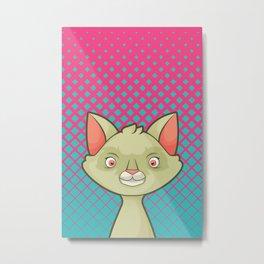 Pop Cats: Agatha Metal Print
