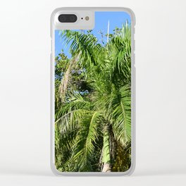 Photo 43 Palm Trees Clear iPhone Case