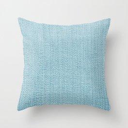 Blue Jean Texture  V2 Throw Pillow