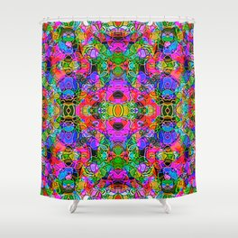 Abstract Kundalini Awakening Shower Curtain