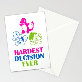 Hardest decision ever Stationery Cards