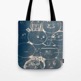 bubble faces Tote Bag