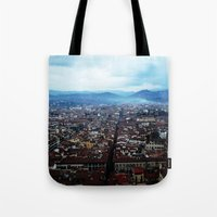 florence Tote Bags featuring Florence by grrrenadine