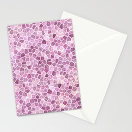 Pale Pink Cobbled Patchwork Stationery Cards
