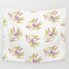 Сlothespins Wall Tapestry