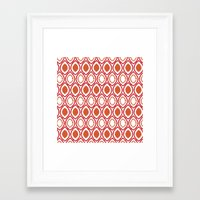 ikat Framed Art Prints featuring Ikat by Jay Hooker Designs