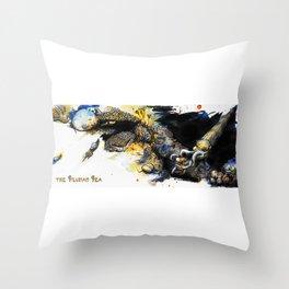 The Silurian Sea Throw Pillow