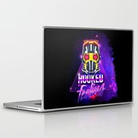starlord Laptop & iPad Skins featuring Starlord fanart hooked on a feeling by Arístides Flores