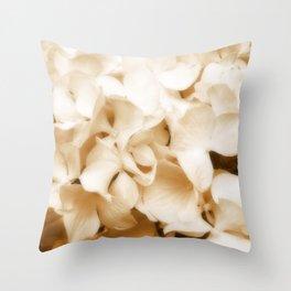 Nostalgic Hydrangea Floral Throw Pillow