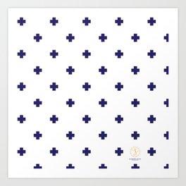 Modern Swiss - Bold Style Cross Plus Sign Art Print