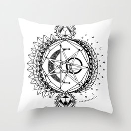 Sun Moon and Stars Throw Pillow
