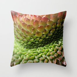 Sempervivum Cristat Throw Pillow