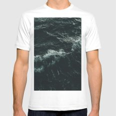 Fury White MEDIUM Mens Fitted Tee