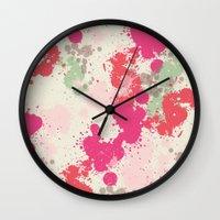 splatter Wall Clocks featuring Splatter by C Designz