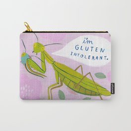Gluten Intolerant Praying Mantis Carry-All Pouch