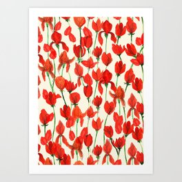 Red Field Art Print