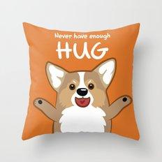Hug Corgi Throw Pillow