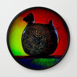Guinea Fowel Bird Painting Wall Clock