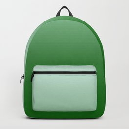 Pastel Green to Green Horizontal Linear Gradient Backpack