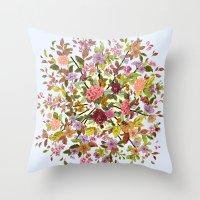 hexagon Throw Pillows featuring Hexagon by Ouizi - Los Angeles