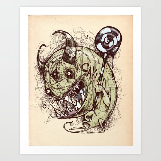 Don't forget to floss Art Print