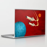battlestar galactica Laptop & iPad Skins featuring Galactica by Tony Vazquez