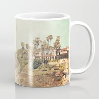 west coast Mugs featuring West Coast 1 by Sylvia C
